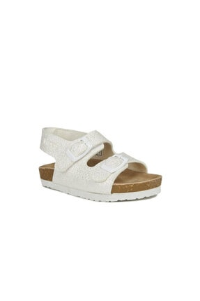 Vicco Unisex Bebek Beyaz Tokalı Sandalet