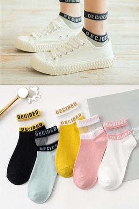 BGK Kadın Desenli Tül Çorap 5 Çift