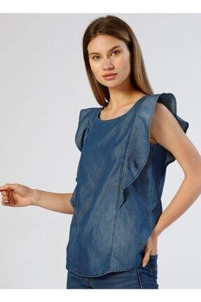 Mustang Kadın Indigo Bluz