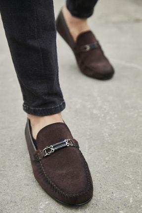 Sateen Men Erkek Koyu Kahve Tokalı Süet Ayakkabı