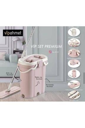 VİP AHMET Pembe Premium Mop Temizlik Kova Seti