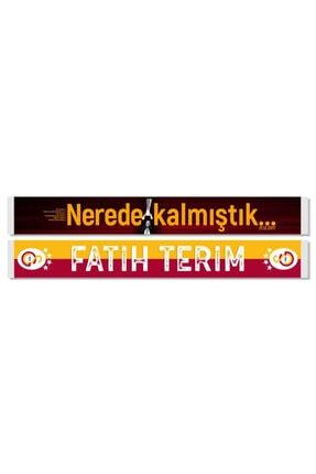 Galatasaray Unisex Sarı Fatih Terim Şal Atkı