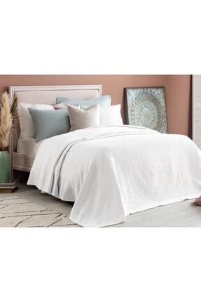 Madame Coco Elita Tek Kişilik Yatak Örtüsü - Beyaz