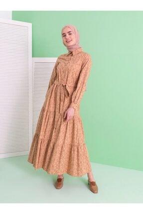 Loreen Kadın Desenli Düğme Detaylı Elbise