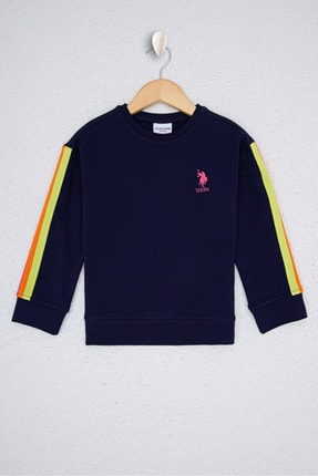 U.S. Polo Assn. Lacıvert Kız Çocuk Sweatshirt