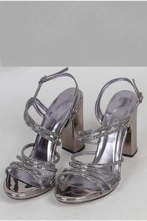 Pierre Cardin Kadın Gümüş Abiye Ayakkabı (pc-50018)