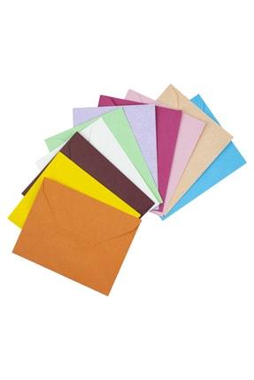 Nuna Renkli Mektup Zarfı 9x7 cm 100 Adet