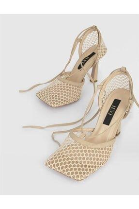 İLVİ Kadın Nude File Topuklu Sandalet