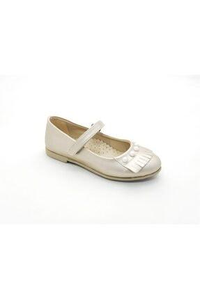 Vicco Kız Çocuk Altın Renk İncili Babet Ayakkabı 460