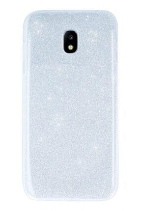 MobilCadde Samsung Galaxy J3 Pro 2017 Simli Silver Silikon Kılıf
