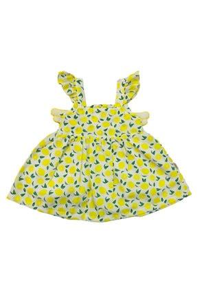Bebekino Kız Bebek Yeni Sezon Yazlık Limonlu Kanatlı Elbise