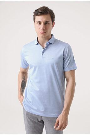 D'S Damat Erkek Mavi Polo Yaka T-Shirt