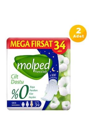 Molped Pure&soft Gece Avantajlı Mega Fırsat Paketi 68 Adet Ped