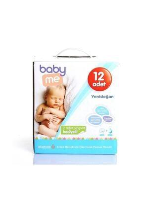 Baby&Me Erkek Islak Yenidoğan Pamuk Mendil 12 Paket Bae-20063