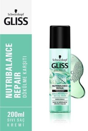 Gliss Schwarzkopf Gliss Nutribalance Repair Saç Dökülmesi Karşiti Durulanmayan Sivi Saç Kremi 200 Ml