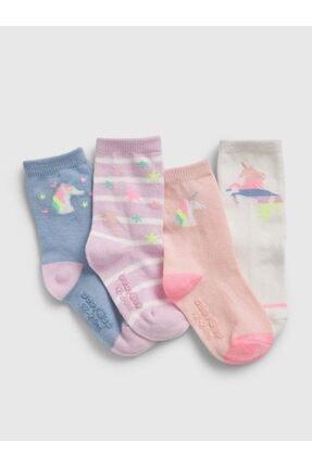 GAP Unisex Bebek Unicorn Çorap Seti 4'lü