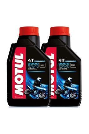 Motul 3000 10w40 4t Mineral Motosiklet Motor Yağı - 2 Adet