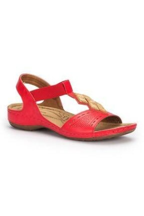 Polaris Kadın Kırmızı Sandalet
