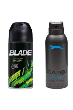 Blade Racer Erkek Deodorant150 ml + Slazenger Mavi Actıves Sport Bay Deodorant 150 ml