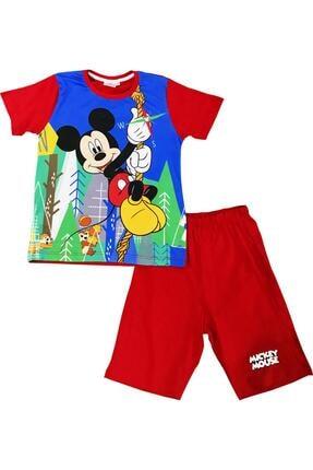 Mickey Mouse Erkek Çocuk Lisanslı Kırmızı Tişört & Şortlu Takım