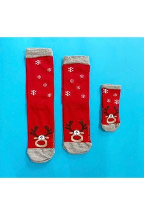 Çorap Çekmecesi Anne Baba Bebek Çorap Kombini Noel