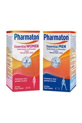 Pharmaton Essential Men 30 Kapsül + Essential Women 30 Kapsül