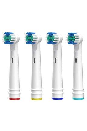 SoftBristles Oral B Uyumlu Diş Fırçası Yedek Başlığı Cross Action Uyumlu 4 Adet