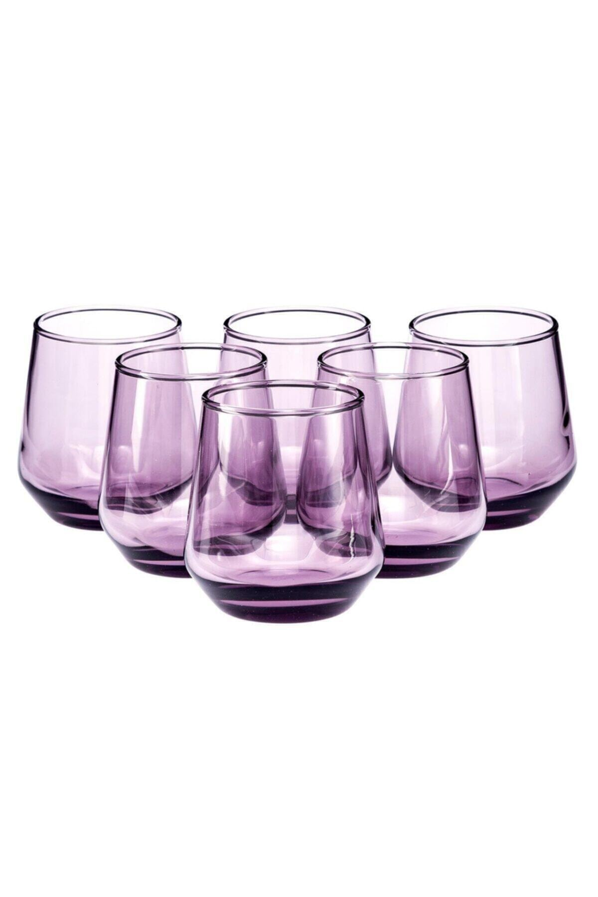 Paşabahçe 420202 Allegra Mor Kahve Yanı Su Bardağı 115 Cc 6 Lı 1