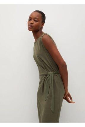 MANGO Woman Düğümlü Pamuklu Elbise
