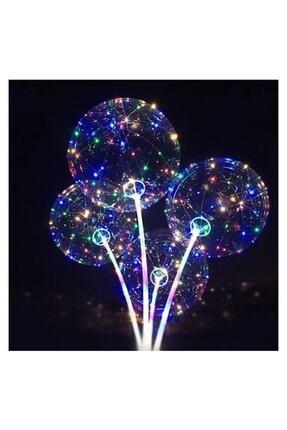 MİLYONCUAVM Milyoncu Ledli Işıklı Balon, Düğmeli Çubuklu Balon Set