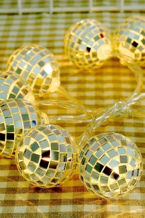 Buffer Mini Disko Topu Dekoratif Süsleme 10'lu Led Zinciri