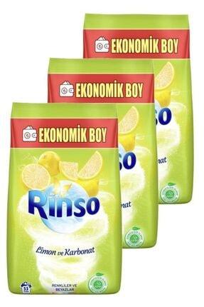 Rinso Limon Ve Karbonat Renkliler Ve Beyazlar Için Toz Çamaşır Deterjanı 6 Kg Üçlü Set
