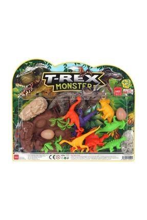 MGS OYUNCAK Büyük Dinazor Kartela Trex Monster Dinozor Set 3609