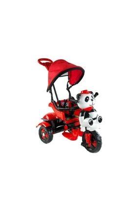 BabyHope Kırmızı Little Panda 3 Tekerli Kontrollü Bisiklet 127-2021 Model