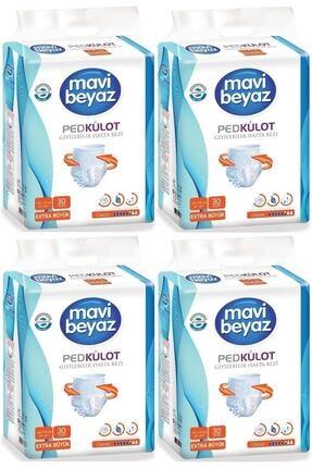 Mavi beyaz Ped Emici Külot Hasta Bezi XL Ekstra Büyük 120 Adet