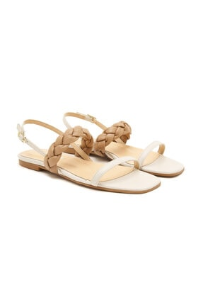 Desa Beyaz Adonita Kadın Sandalet