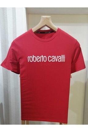 Roberto Cavalli Kırmızı Basic Tişört