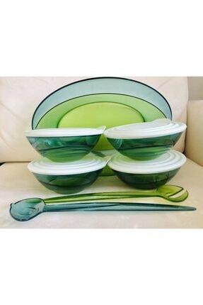 Tupperware Yeşil Damla Kadın Kapları Set