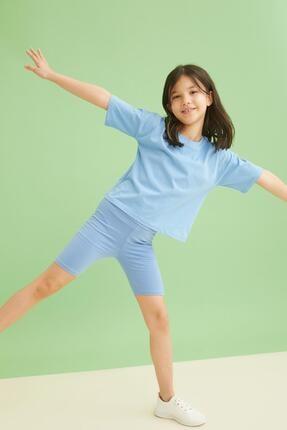 DeFacto Kız Çocuk Yüksek Bel Kısa Tayt