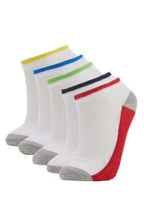 DeFacto Erkek Çocuk Beyaz Patik Çorap 5'li