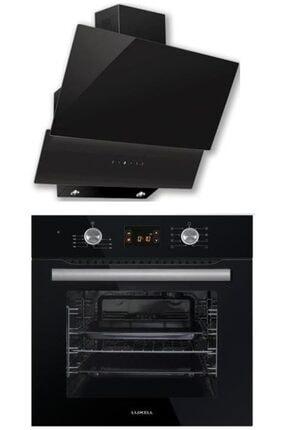 Luxell Dijital Siyah Ankastre Set