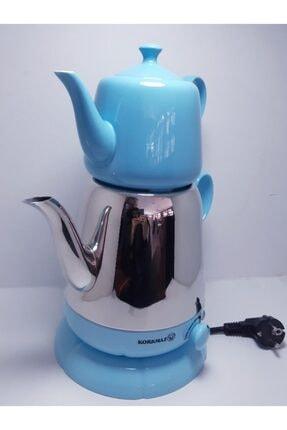 KORKMAZ Elektrikli Mavi Porselen Çaydanlık 339-03