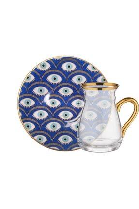 Glore Nazende Kulplu 6 Kişilik Çay Seti