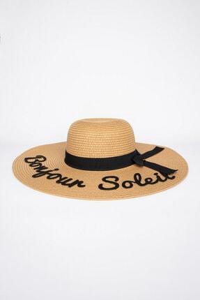 Penti Ekru Slogan Şapka