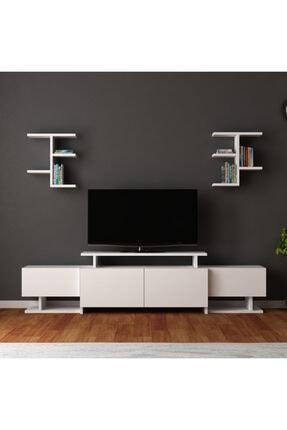 ARNETTİ Yaren Tv Ünitesi Yaşam Odası, Salon, Ve Oturma Odası, Tv Sehpası Beyaz