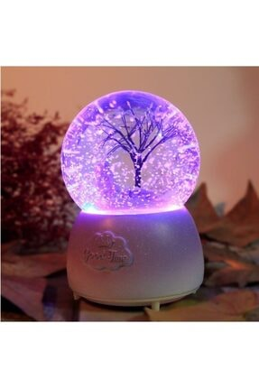 Çiko Toys Ağaç Temalı Işıklı Müzikli Püskürtmeli Kar Küresi Büyük Boy