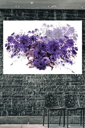 Hediyeler Kapında Purple And Purple Kanvas Tablo