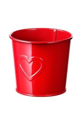 IKEA Vınter 2020 9 Cm Saksı Kalp Desenli Kırmızı
