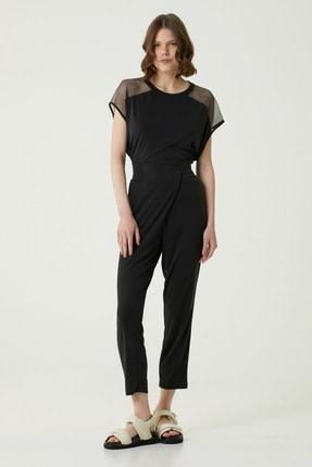 Network Kadın Basic Fit Siyah Asimetrik Pantolon 1079932