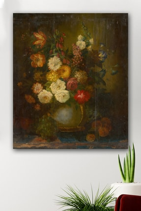 Hediyeler Kapında Filled With Flowers Kanvas Tablo